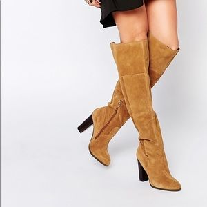 ALDO bove tan leather over the knee boots